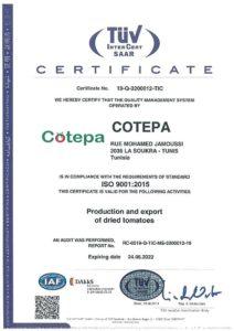 Certificat COTEPA