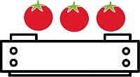 réception de tomates fraîches